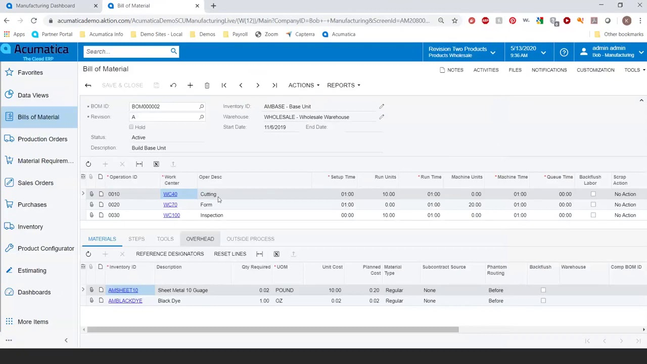 a detailed guide to creating accurate BOM and routing standards with acumatica