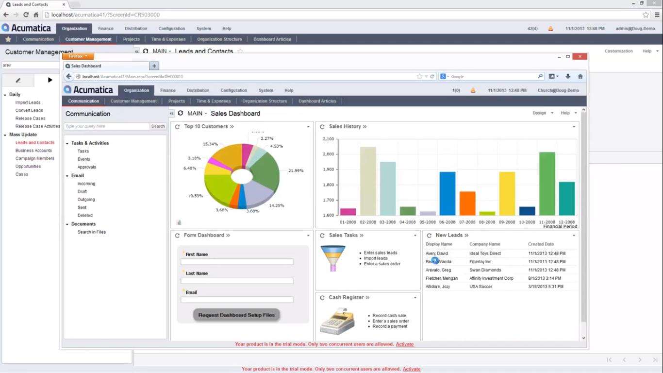 acumatica integrated marketing CRM ERP