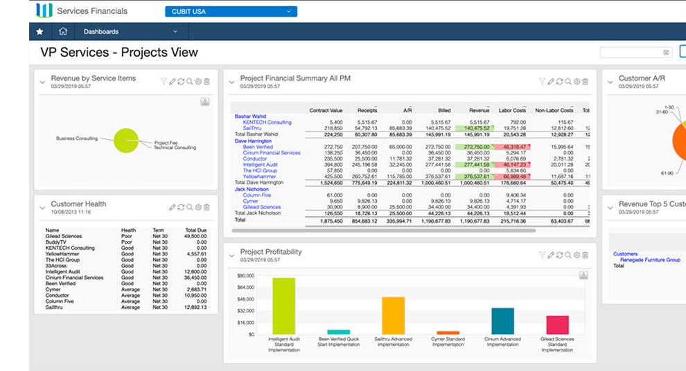 cloud project costing & billing software sage intacct
