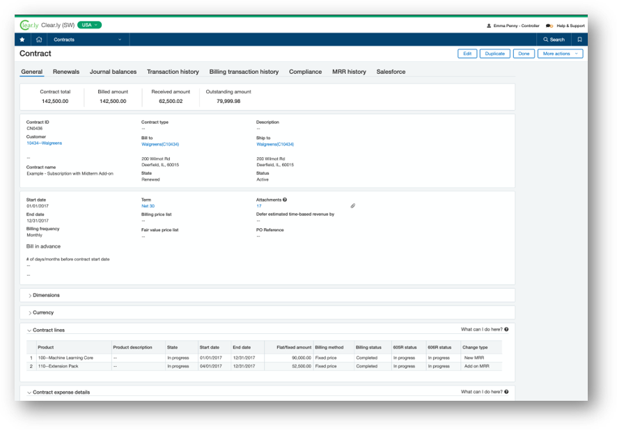 sage intacct one susbcription record system for SaaS and software businesses